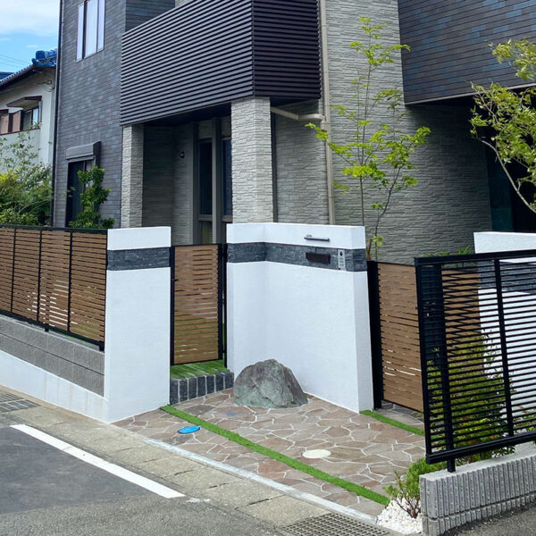 新築工事に伴う外構造園工事